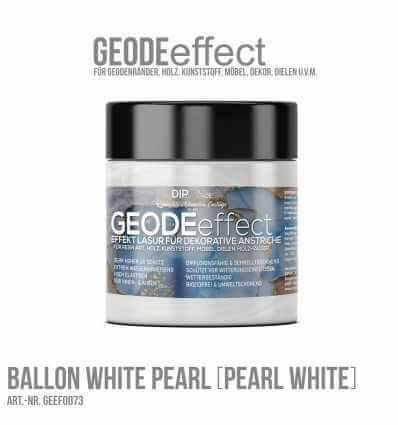 """GeodeEffect Acryl Dekorlasur """"Ballon White (Pearl White) Pearl"""" 80ml"""