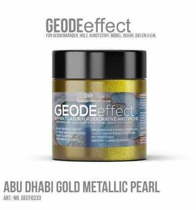 "GeodeEffect Acryl Dekorlasur ""Abu Dhabi Gold Metallic Pearl"" 80ml"