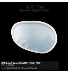 Irregular Oval Coaster 1 Mold / Silikonform