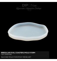 Irregular Oval Coaster 2 Mold / Silikonform