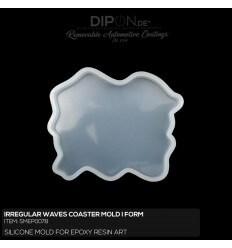 Irregular Waves Coaster Mold / Silikonform