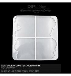 Agate Ocean Coaster 1 Mold / Silikonform