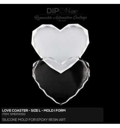 Love Coaster Mold / Silikonform