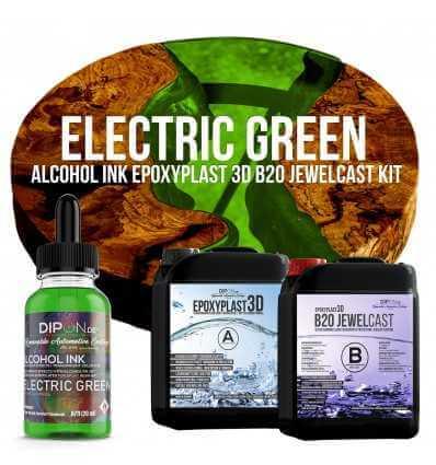 EpoxyPlast B20 JewelCast - Electric Green Kit -