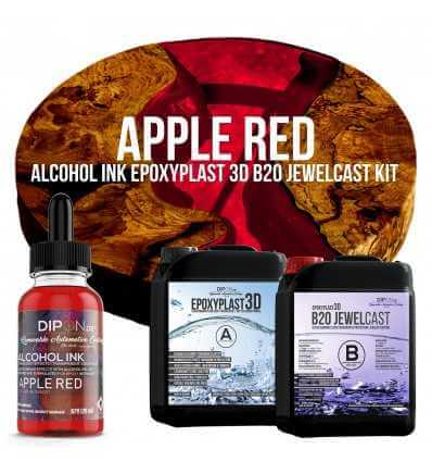 EpoxyPlast B20 JewelCast - Apple Red Kit -
