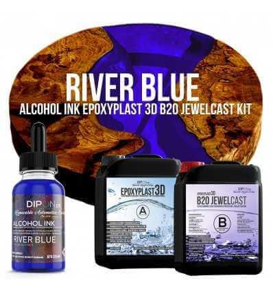 EpoxyPlast B20 JewelCast - River Blue Kit -