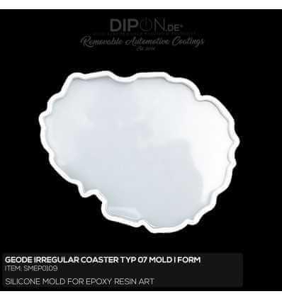 Geode Irregular Coaster Typ 07 Mold / Silikonform