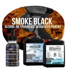 EpoxyPlast 3D B50 Deep Pour - Smoke Black Kit -