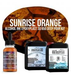 EpoxyPlast 3D B50 Deep Pour - Sunrise Orange Kit -