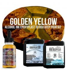 EpoxyPlast 3D B50 Deep Pour - Golden Yellow Kit -