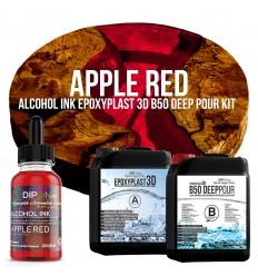 EpoxyPlast 3D B50 Deep Pour - Apple Red Kit -