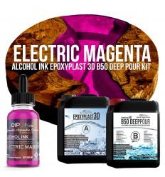 EpoxyPlast 3D B50 Deep Pour - Electric Magenta Kit -