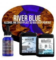 EpoxyPlast 3D B50 Deep Pour - River Blue Kit -