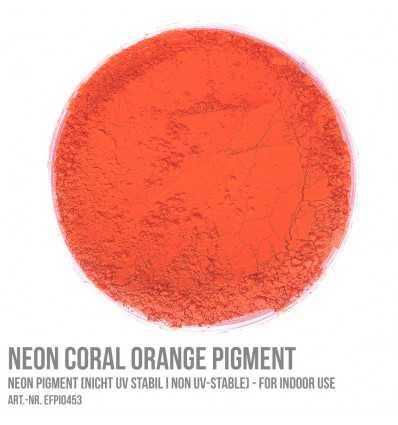 Neon Coral Orange Pigment