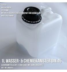 Wasser & Chemie Leer Kanister Lebensmittelecht