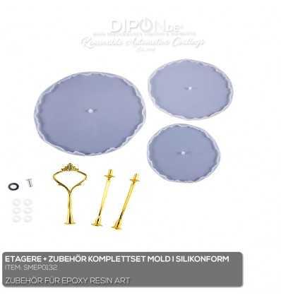 Etagere + Zubehör Komplettset Mold / Silikonform