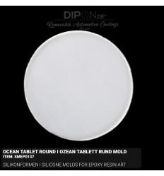 Ocean Tablett Round I Ozean Tablet Rund Mold / Silikonform