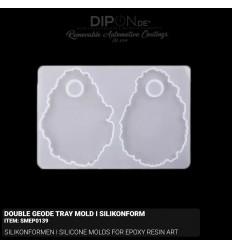 Double Geode Tray Mold I Silikonform