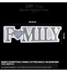Family Schriftzug I Family Letters - Mold I Silikonform