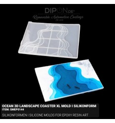 Ocean 3D Landscape Coaster XL - Mold I Silikonform