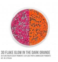 3D Flake Glow in the Dark Orange