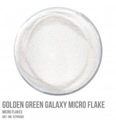 Golden Green Galaxy Micro Flake