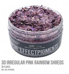 3D Irregular Pink Rainbow Shreds