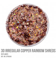 3D Irregular Copper Rainbow Shreds