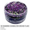 3D Diamond Chamaleon Orchid Flake