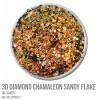 3D Diamond Chamaleon Sandy Flake