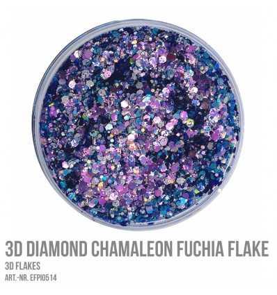 3D Diamond Chamaleon Fuchia Flake