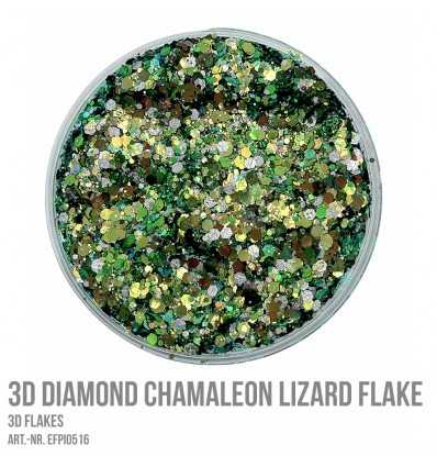 3D Diamond Chamaleon Lizard Flake