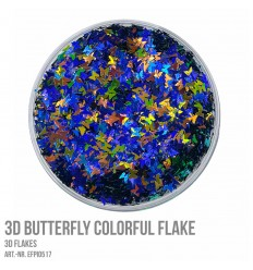 3D Butterfly Colorful Flake