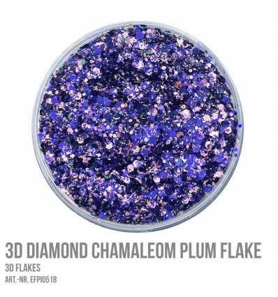 3D Diamond Chamaleon Plum Flake