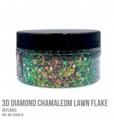 3D Diamond Chamaleon Lawn Flake