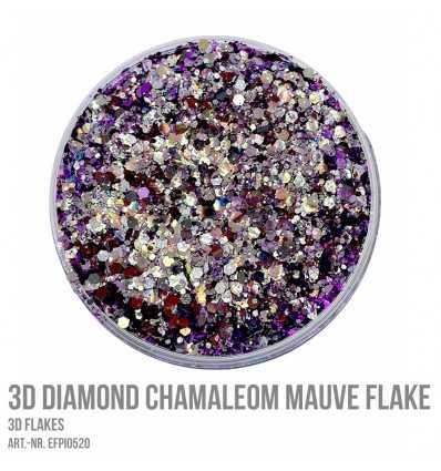 3D Diamond Chamaleon Mauve Flake