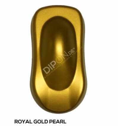 KandyDip® Royal Gold Pearl Matt (Schwarze KandyDip® Basisbeschichtung / Black KandyDip® Basecoat)