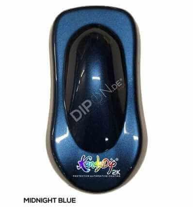 KandyDip® Midnight Blue Pearl Matt + KandyDip® 2K High Gloss (Schwarze KandyDip® Basisbeschichtung / Black KandyDip® Basecoat)