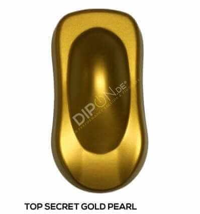 KandyDip® Top Secret Gold Pearl Matt (Schwarze KandyDip® Basisbeschichtung / Black KandyDip® Basecoat)