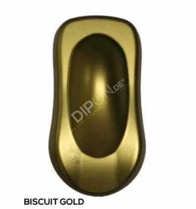 KandyDip® Biscuit Gold Pearl Matt (Schwarze KandyDip® Basisfarbe / Black KandyDip® Basecoat)