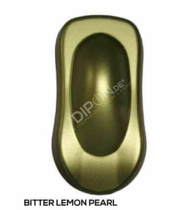 KandyDip® Bitter Lemon Pearl Matt (Schwarze KandyDip® Basisfarbe / Black KandyDip® Basecoat)