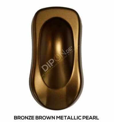 KandyDip® Bronze Brown Pearl Matt (Schwarze KandyDip® Basisfarbe / Black KandyDip® Basecoat)