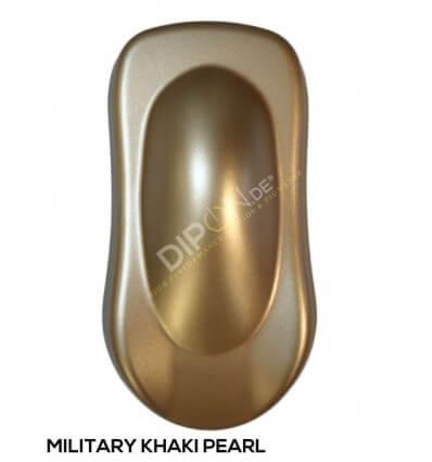 KandyDip® Military Khaki Pearl Matt (Schwarze KandyDip® Basis / Black KandyDip® Basecoat)