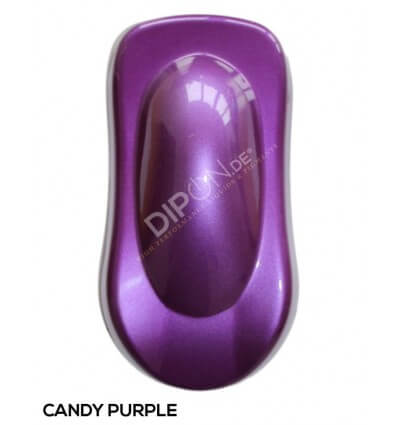 KandyDip® Candy Purple Matt + 2K High Gloss (Schwarze Basis + True Aluminium Silver + Candy Purple)
