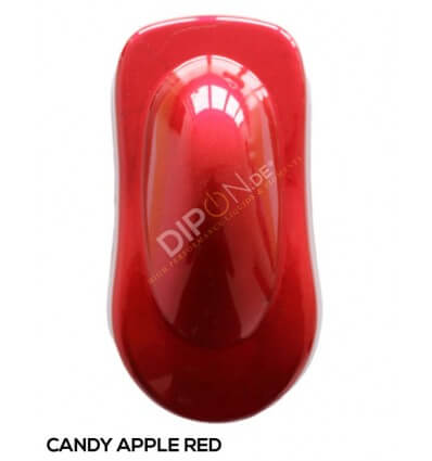 KandyDip® Candy Apple Red Matt + 2K High Gloss (Schwarze Basis + True Aluminium Gold + Candy Apple Red Matt)