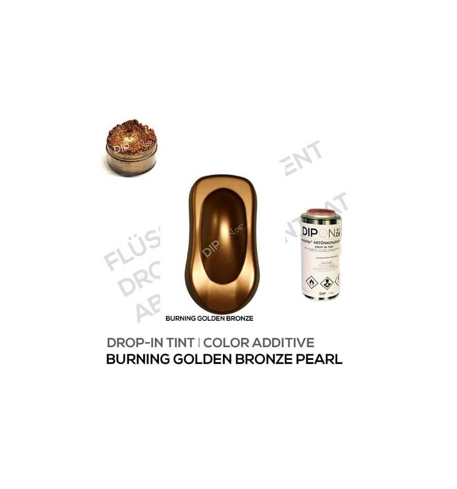 Effekt Wandfarbe Bronze Metallic: Burning Golden Bronze Pearl Liquid Tint