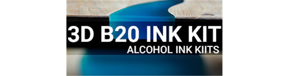EpoxyPlast 3D B20 JewelCast Alcohol Ink Kits