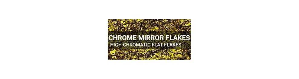 Chrome Mirror Flake Plates